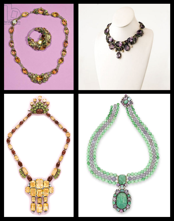 Series of large necklaces designed by Dorrie Nossiter.