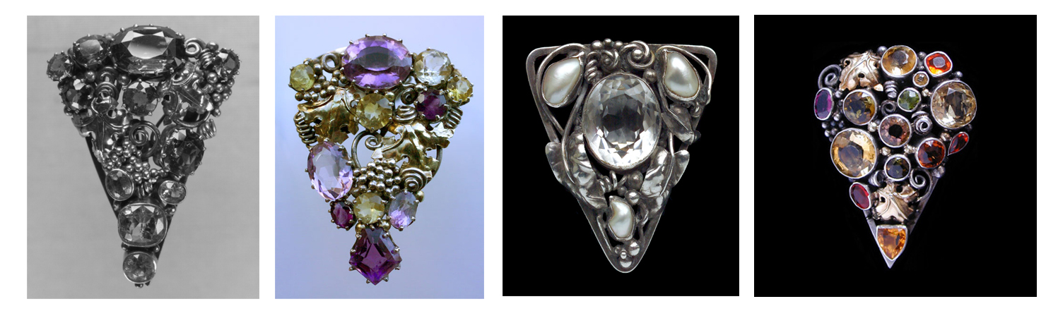The jewellery pieces are from left to right Toledo museum, Tadema Gallery as is the next and far right Van den Bosch.